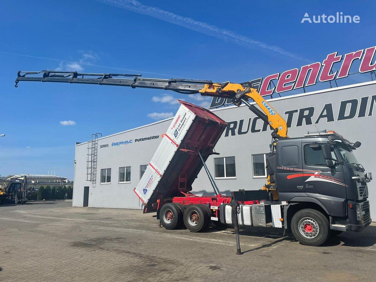 контейнеровоз VOLVO FH 520 6x4 Crane EFFER 305 / Kipper