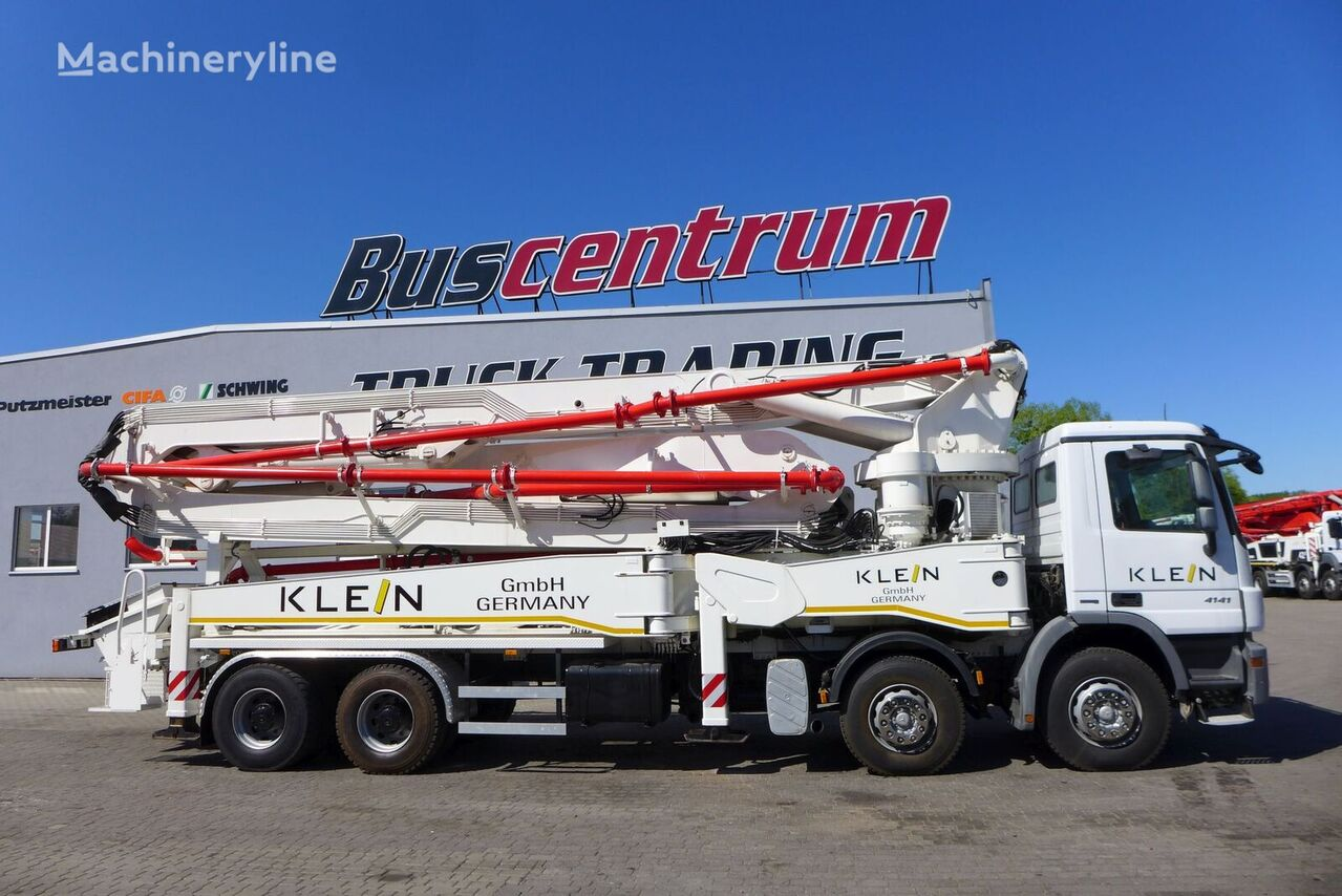 автобетононасос Kleine GmbH на шасси MERCEDES-BENZ Actros 4141 8x4 KLEIN 47 m